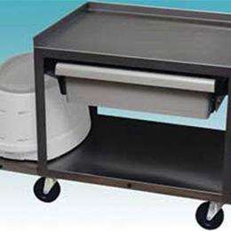 Image of 2 Shelf Stainless Cart w/ Drawer 2