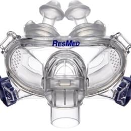 ResMed :: Mirage Liberty™ full face mask frame system with small cushion and small pillows – no headgear
