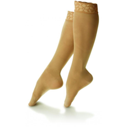 Dr. Comfort :: Sheer Comfort Lace Top Hosiery for Women (15-20)
