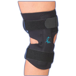 "Professional Orthopedic Products :: Gripper™ Hinged Knee Brace - 12"" Neoprene"