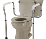 Toilet Safety Rails - The toilet safety rails have a one piece mounting design for eas