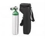 D Cylinder Portable System - This small oxygen cylinder is typically carried in a canvas bag