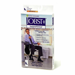 Image of Jobst for Men 8-15 mmHg Closed Toe Knee High Ribbed Compression Socks 2