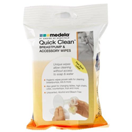 Image of Quick Clean Breastpump Accessory Wipes 24 Pack 1