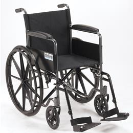 Drive :: Silver Sport 1 Wheelchair With Full Arms And Swing Away Removable Footrest