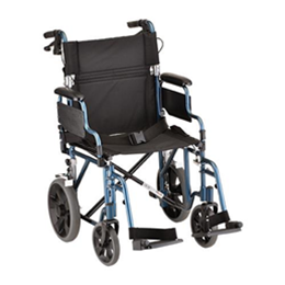 Image of 19 inch Transport Chair with 12 inch Rear Wheels - 352B 2