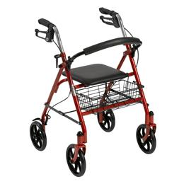Drive Medical :: Four Wheel Walker Rollator with Fold Up Removable Back Support