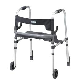 Rollators :: Drive :: Clever Lite Ls Rollator Walker With Seat And Push Down Brakes