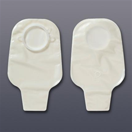 Hollister :: Drainable Pouches with Flange, w/transparent odor barrier quiet film and flange, 2 1/4""