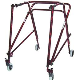 Drive Medical :: Nimbo Lightweight Walker Adult Flame Red