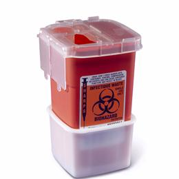 Medline :: CONTAINER SHARPS 1 QT RED PHLEB