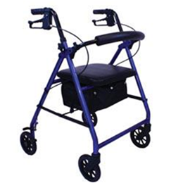 "Roscoe Medical :: E-Series Rollater w/6"" Wheels, Blue"