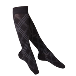 Image of 1074 TOUCH Ladies' Compression Argyle Pattern Knee Socks 2