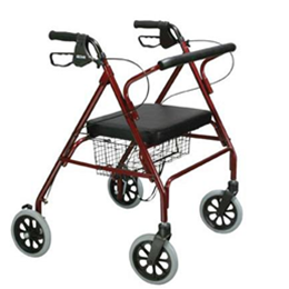 "Image of Go-Lite Bariatric Steel Rollator, Padded Seat, 8"" Casters with Loop Locks 2"