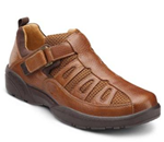 Beachcomber :: An open mesh shoe for men. This lightweight shoe has a Velcro st