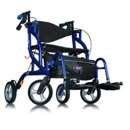 Drive :: Airgo® Fusion 2-in-1 Side-Folding Rollator & Transport Wheelchair