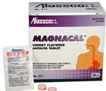 Magnacal - 100 Tablets - Dual action cherry-flavored antacid tablet that promotes fast