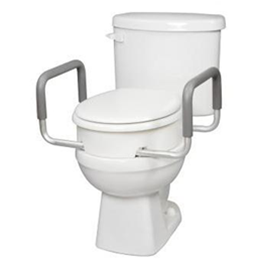 Image of Carex®: Toilet Seat Elevator with Handles for Standard/Round Toilets 2