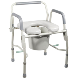 Image of K.D. Deluxe Steel Drop-Arm Commode with Padded Seat 2