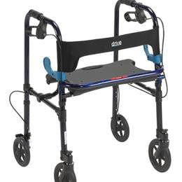 Drive Medical :: Clever Lite Folding Walker w/Seat and Brakes
