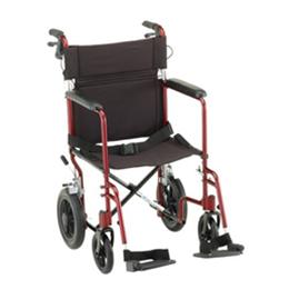 19 inch Transport Chair with 12 inch Rear Wheels - 330 thumbnail