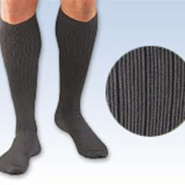 FLA Orthopedics Inc. :: Activa® Men's Microfiber Dress Socks 20-30 mm Hg Series H34 (Pinstripe Pattern)