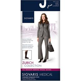 Image of SIGVARIS All Season Wool 20-30mmHg - Size: ML - Color: BLACK