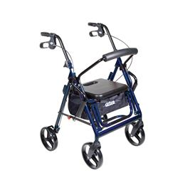 Drive Medical :: Duet Transport Wheelchair Walker Rollator