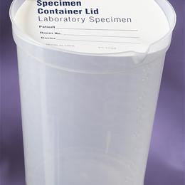 CONTAINER URINALYSIS LID CLR PLSTC 6OZ