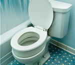 Bath Safety Toilet Seat Riser - Raise the height of any standard size toilet seat using the B