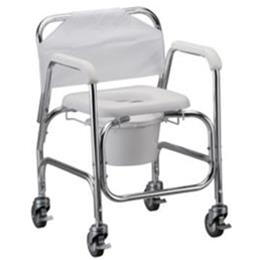 Image of Shower Chair/Commode w/ Wheels 1