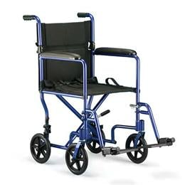 Image of Aluminum Transport Chair 1