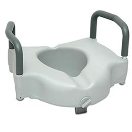 Invacare Raised Toilet Seat w/ Arms Clamp-On :: Image Number 41403