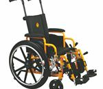 "WHEELCHAIR PEDIATRIC 14"" DLA ELR - Excel Kidz Chair: The Excel Kidz Chair Features A Bright Yellow"