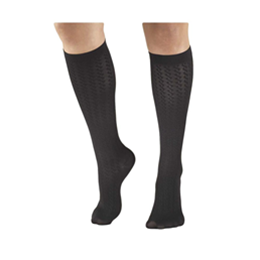 Airway Surgical :: 1975 TRUFORM Ladies' Cable Pattern Knee High Sock