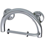 2-in-1 Grab Bar/Single TP Holder, Chrome