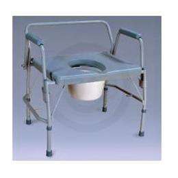 Nova Medical Products :: Nova Ortho-Med Heavy Duty Drop-Arm Commode w/ Extra Wide Seat