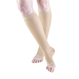 Airway Surgical :: 1772 TRUFORM Ladies' Sheer Knee High Open-Toe Sock