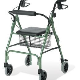Image of ROLLATOR GUARDIAN ECONO ALUMINUM RED 1