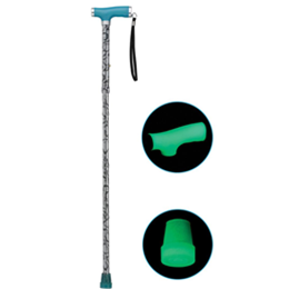 Image of Folding Canes with Silicone Gel Glow Grip Handle and Tip