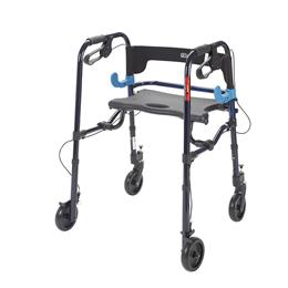 "Image of Clever Lite Rollator Junior Walker With 5"" Casters 3"