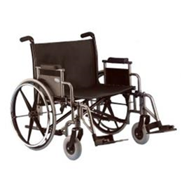 Wheelchairs :: Generic  :: Wheelchair: Xtra Wide w/elevating leg rests & anti tippers, 600lb wt capacity