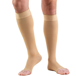 Airway Surgical :: 0844 TRUFORM Classic Compression Ladies' Below Knee, Open Toe, Stay-Up Beaded Top, Stocking