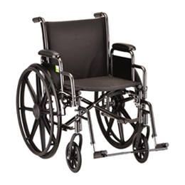 "Image of 18"" Steel Wheelchair Detachable Desk Arms and Footrests 2"