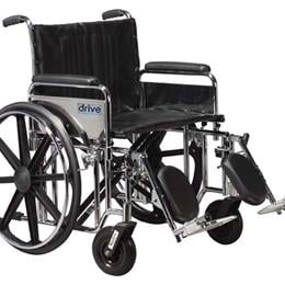 Sentra Extra Heavy Duty Dual-Axle Wheelchair :: The Sentra EC Heavy Duty is a reinforced steel high-quality whee