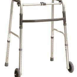 Drive Medical :: Walker Folding One-Button Adult w/5  Wheels