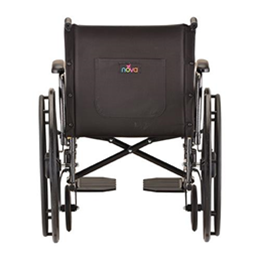 "Image of 20"" Steel Wheelchair with Detachable Desk Arms and Footrests 9"