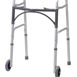 Drive Medical :: Walker Folding 2-Button Adult W/5  Wheels Deluxe (Drive)