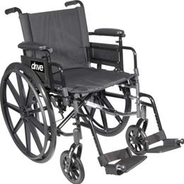 Drive Medical :: Wheelchair Ltwt K-4 Flip-Back Full Arms & S/A Footrests  16