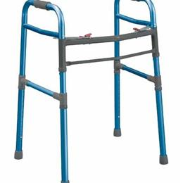 Drive Medical :: Universal Folding Walker 2 Button (Adult/Junior) Blue
